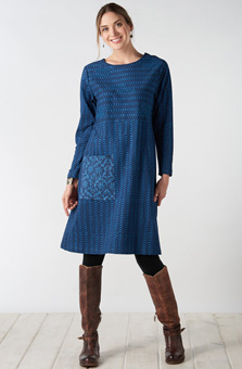 Sanjana Tunic Dress - Indigo