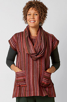 Infinity Scarf - Heather rosewood