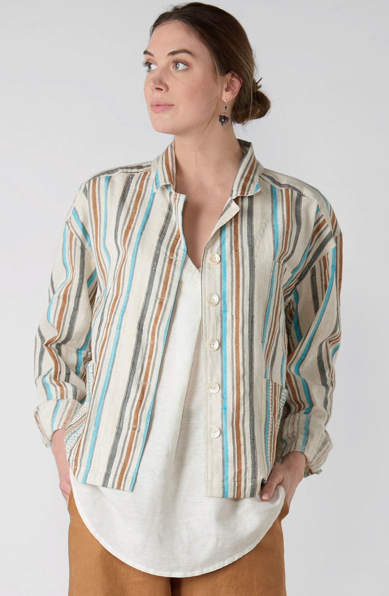 Jisha Jacket - Natural Multi