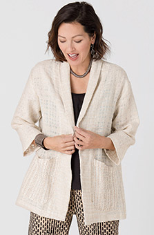 Sohan Handwoven Jacket - Natural