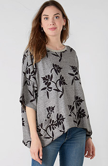 Tripura Top - Heather grey