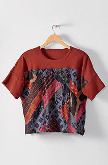 Kabini Top - Paprika Multi