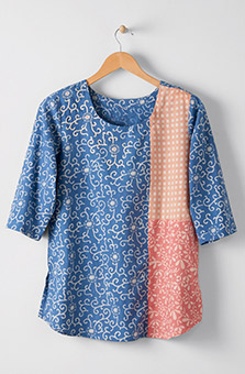 Divya Top - Chambray blue Multi
