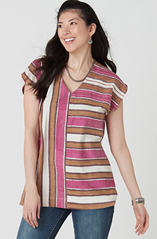 Nisha Tunic - Natural Multi
