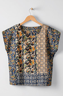 Koshi Top - Navy Multi