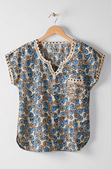 Neema Top - Chambray blue