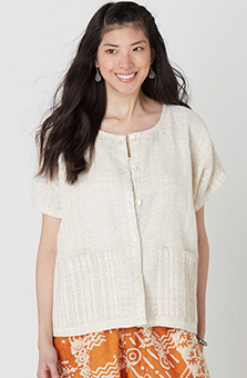 Beena Handwoven Jacket - Natural