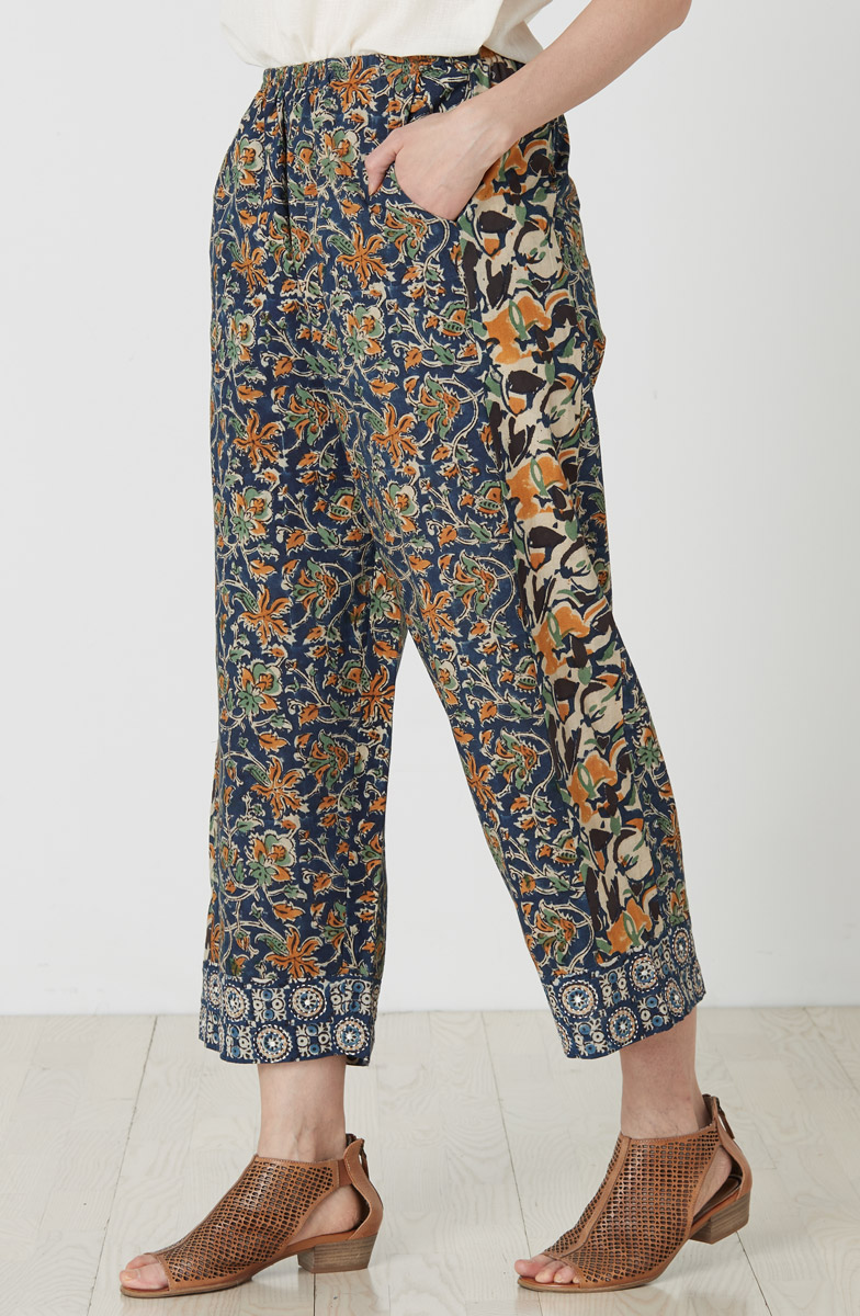 Kesari Collage Pant - Navy Multi