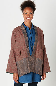 Reversible Organic Revati Jacket - Tea/Jade