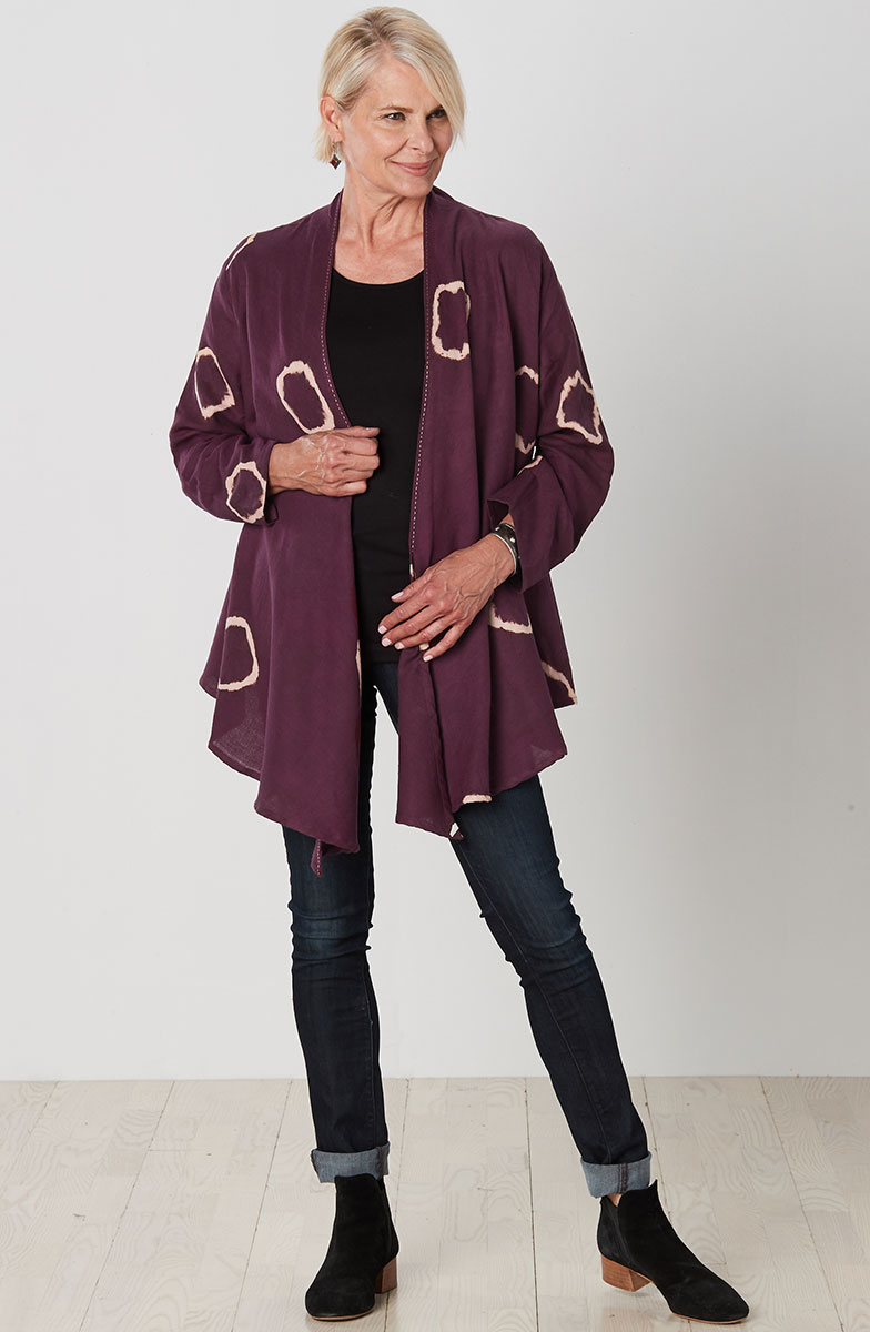 Sakina Jacket - Wine