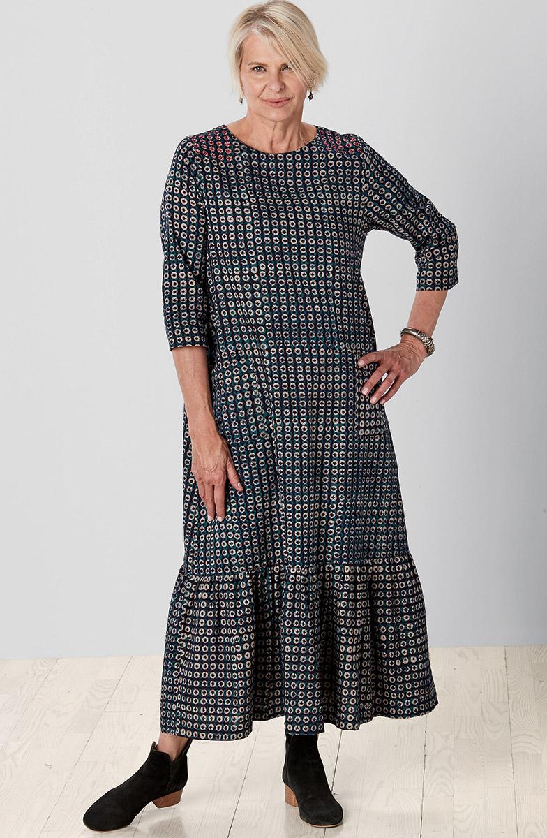 Rahila Dress - Navy