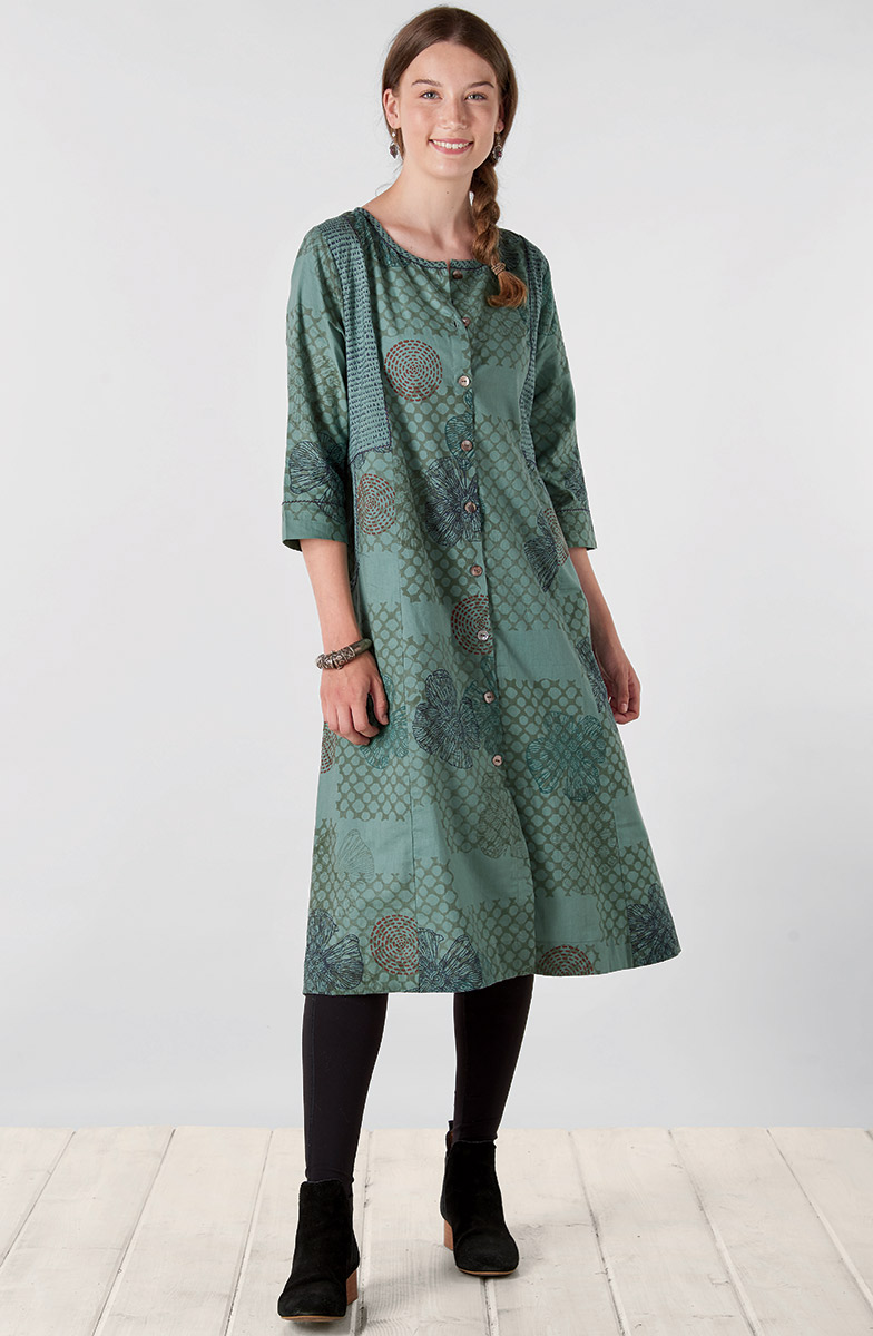 Bhavika Organic Dress - Jade
