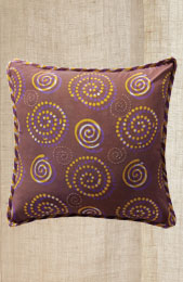 Cushion Cover - Purple spiral all-over