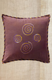 Cushion Cover - Purple 4 spiral