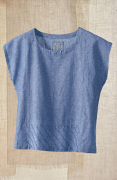Koshi Top - Chambray Blue