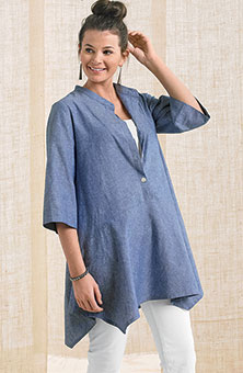 Nadima Tunic - Chambray Blue