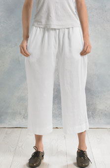 Textured Voile Culottes - White