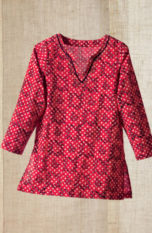 Agra Tunic - Apple Red