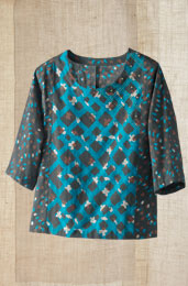 Panvel Top - Turquoise/Chocolate