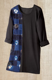 Mohina Tunic - Black/Multi
