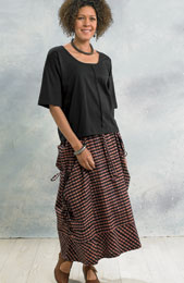 Rajwa Skirt - Black/Clay