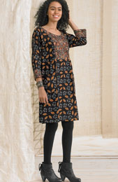 Nasreen Dress - Black/Multi