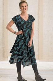 Sonali Dress - Black/Turquoise