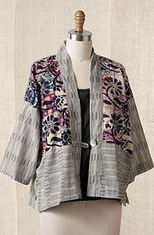 Namita jacket - Ikat/chindi