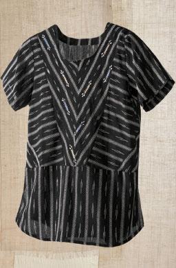 Divya Top - Black ikat