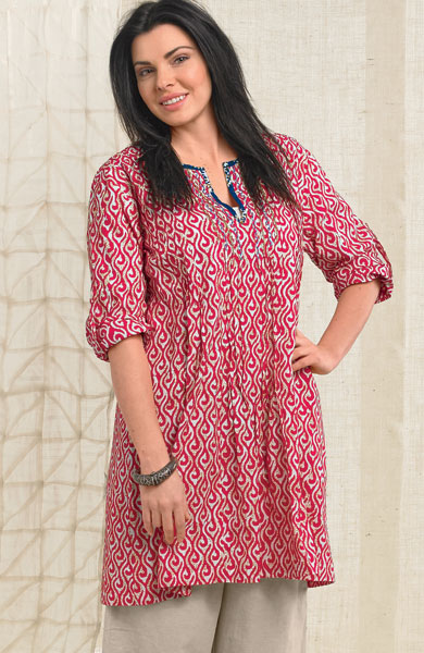 Kamini Tunic - Red/multi