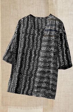 Simran Top - Black/white