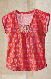 Preethi Top - Orange/pink