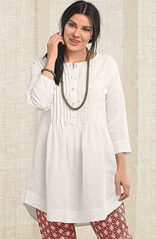 Asmita Tunic - Soft white