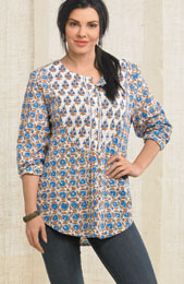Misha Top - Blue/multi