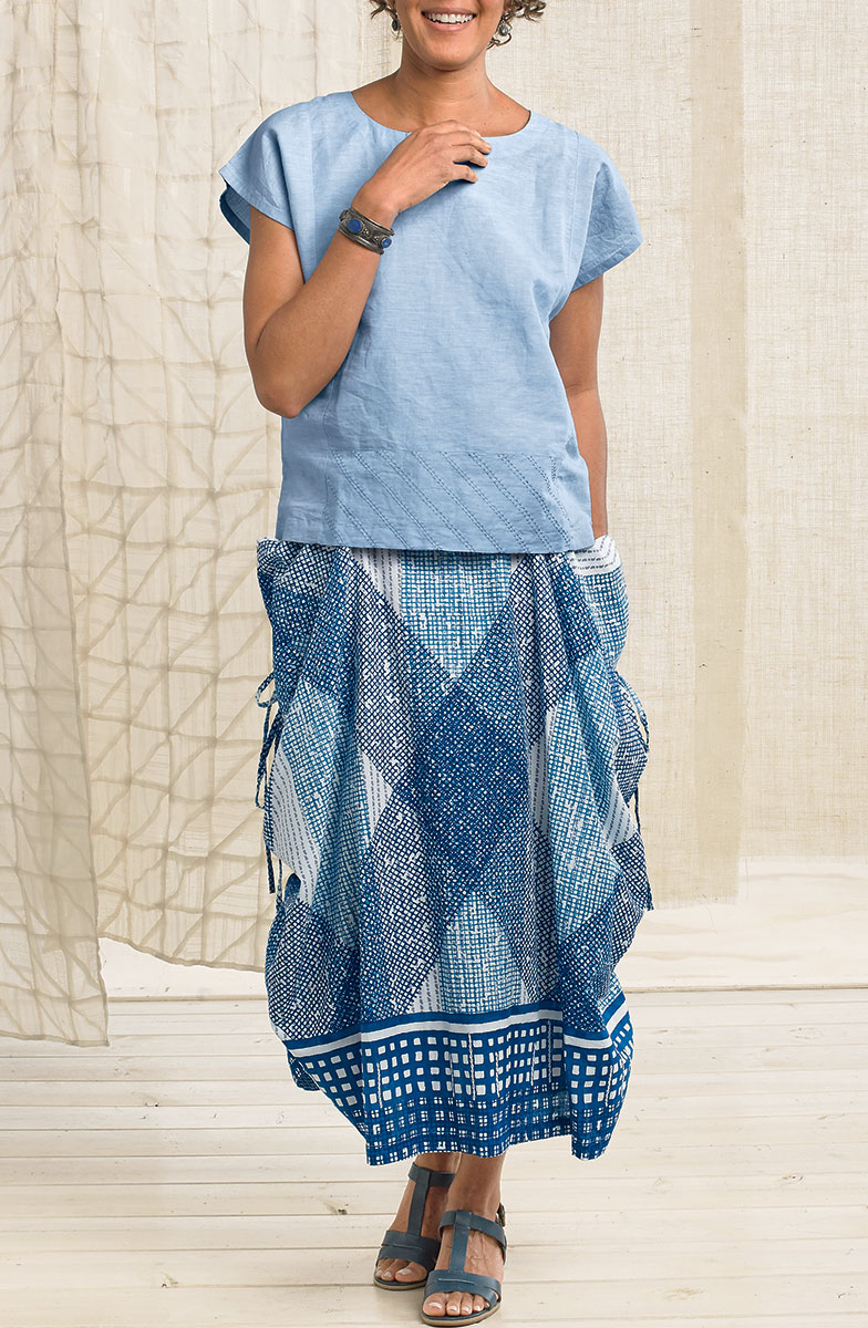 Rajwa Skirt - Natural/ink