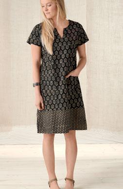 Shaila Dress - Black/ginger