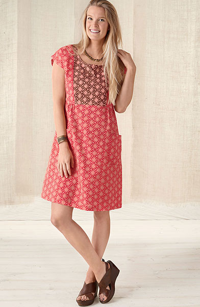Nasreen Dress - Guava/teak