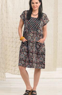 Nasreen Dress - Black/multi