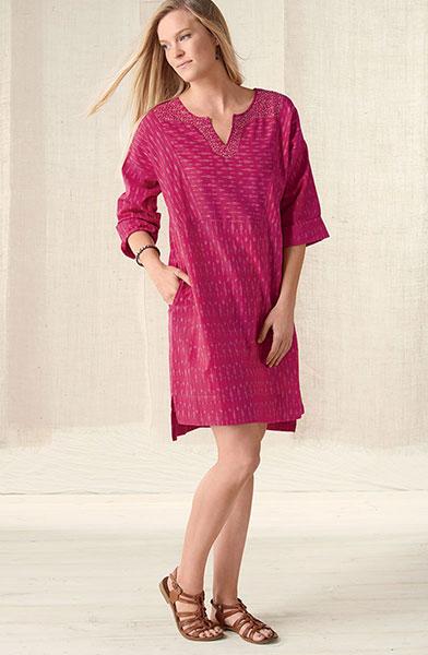 Sheethal Dress - Raspberry