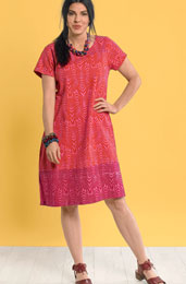 Rashmi Dress - Orange/red