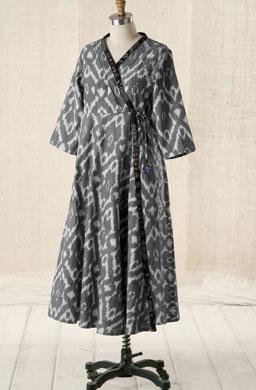 Wrap dress - Natural/black
