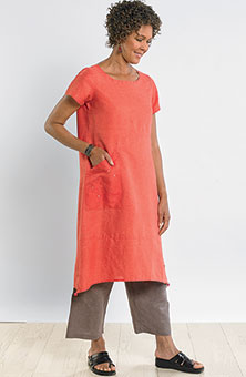 Maisha Shift Dress - Guava
