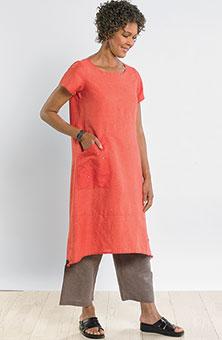 Maisha Shift Dress - Guava