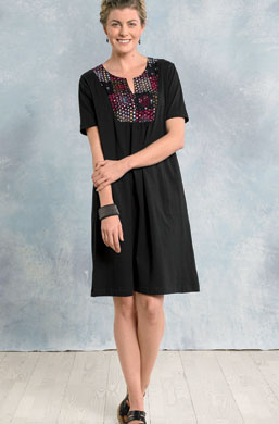 Jersey Kurta Dress - Black/chindi