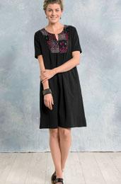 Jersey Kurta Dress - Black/chindi