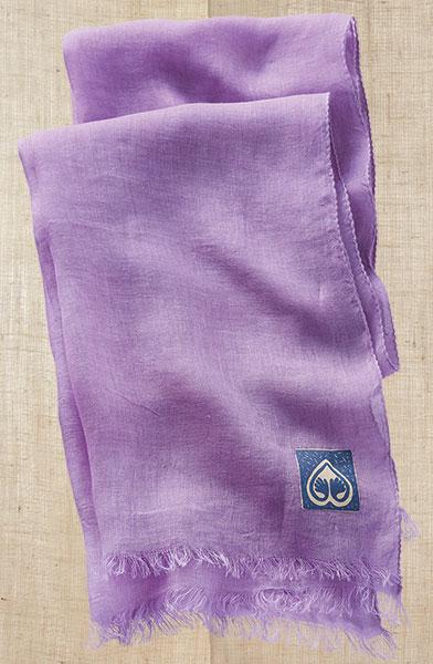 Linen Scarf - Lavender