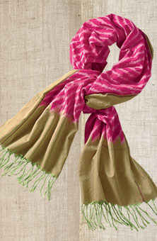 Scarf - Pink/lime
