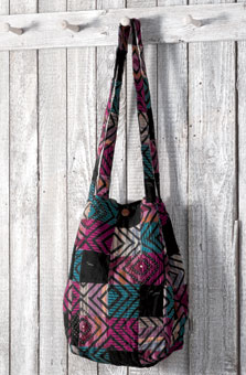 Bucket Bag - Amethyst/multi chindi
