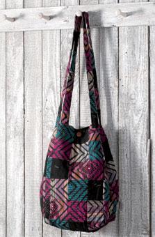 Bucket Bag - Amethyst/multi chindi