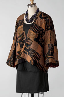 Reversible Neeta Jacket - Teak/claret